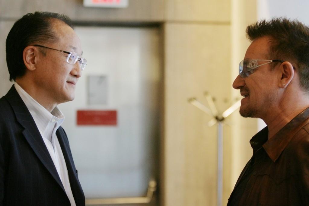 Bono and World Bank President Jim Kim