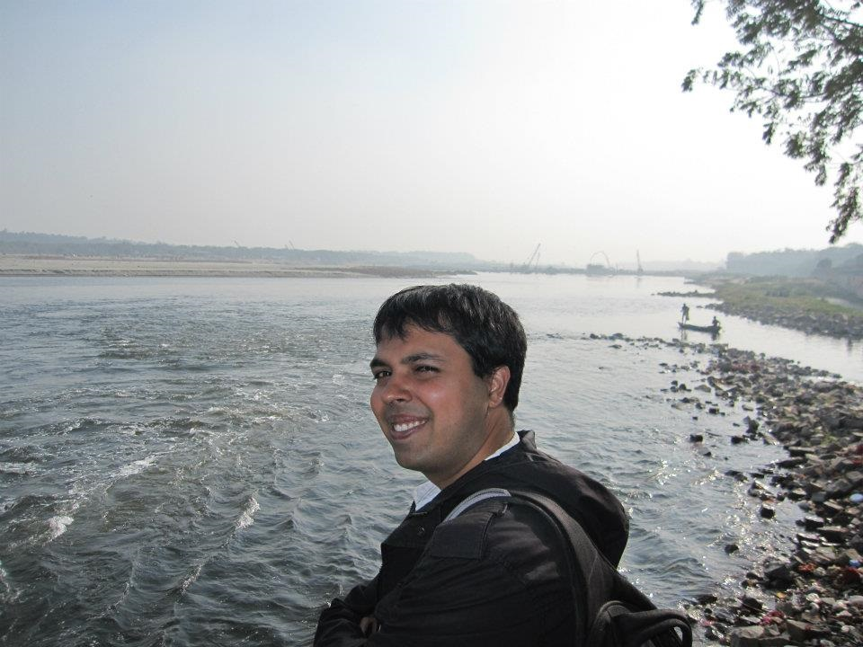 At the polluted Yamuna in Delhi